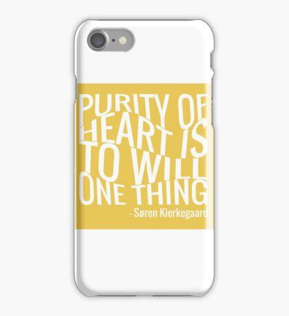 Kierkegaard - Purity of heart - Typography iPhone Case/Skin