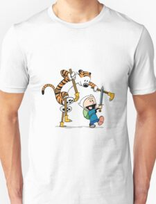 hobbes and calvin time advanture Unisex T-Shirt