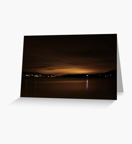 Lough Swilly Donegal at Night Greeting Card