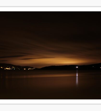 Lough Swilly Donegal at Night Sticker
