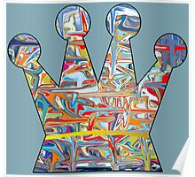Graffiti crown Poster