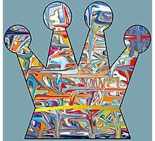 Graffiti crown Photographic Print
