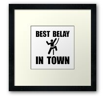 Best Belay Framed Print