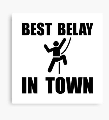Best Belay Canvas Print
