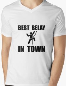 Best Belay Mens V-Neck T-Shirt