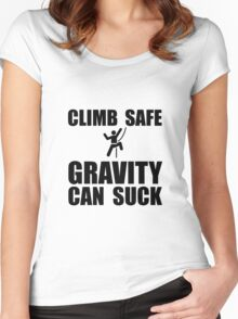 Climb Safe Gravity Can Suck Women's Fitted Scoop T-Shirt