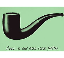 is this a  pipe? Photographic Print