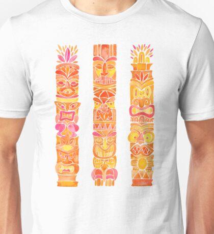 Tiki Totems – Orange Ombré Unisex T-Shirt