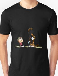 Calvin And Hobbes playing Unisex T-Shirt