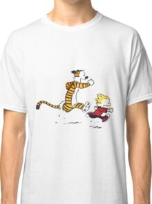 Calvin And Hobbes runner Classic T-Shirt