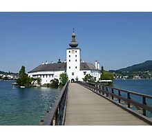 Ort Castle in Traunsee Lake, Austria Photographic Print