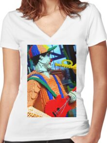 Lego Man Women's Fitted V-Neck T-Shirt