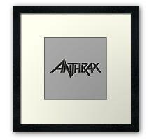 Anthrax Logo Thrash Metal Framed Print
