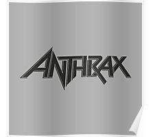 Anthrax Logo Thrash Metal Poster