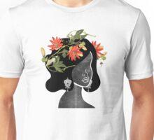 Wildflower Crown Silhouette Unisex T-Shirt