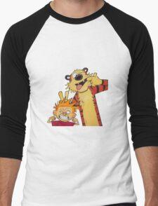 calvin and hobbes yucks Men's Baseball ¾ T-Shirt