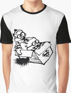 calvin hobbes superman style Graphic T-Shirt