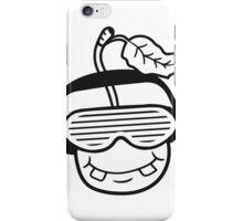 party dj music headphones sunglasses stripes face funky comic cartoon funny club disco iPhone Case/Skin