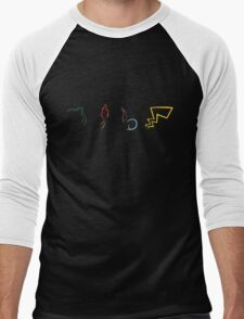 Starter Pokemon - Dark Theme Men's Baseball ¾ T-Shirt