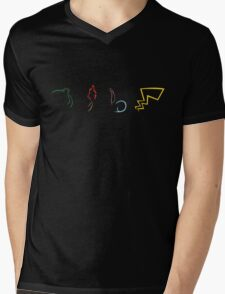 Starter Pokemon - Dark Theme Mens V-Neck T-Shirt