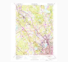USGS TOPO Map Rhode Island RI Pawtucket 353335 1949 24000 Unisex T-Shirt