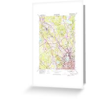 USGS TOPO Map Rhode Island RI Pawtucket 353335 1949 24000 Greeting Card