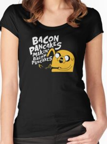 Makin' Bacon Pancakes Women's Fitted Scoop T-Shirt