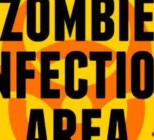Zombie Infection Area Sticker