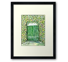 God opens doors Framed Print