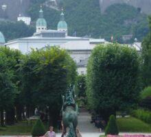 Mirabell Gardens & Hohensalzburg Castle in Salzburg, Austria Sticker