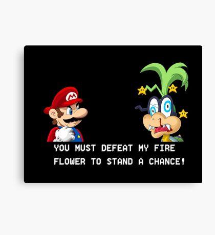 Super Street Fighter Mario Canvas Print