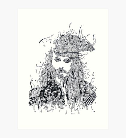 Johnny Depp (Pirates of the Caribbean) Art Print
