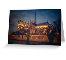 Notre Dame On The Seine Textured Greeting Card