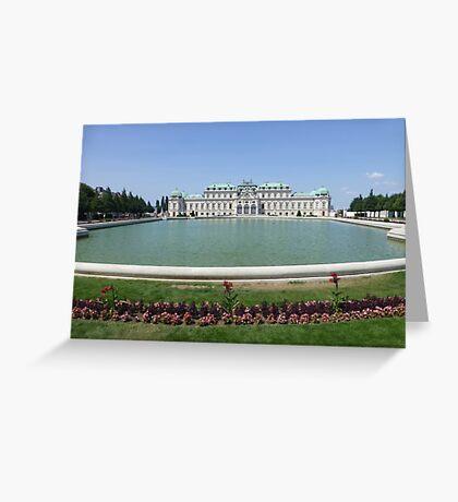 Belvedere Palace in Vienna, Austria Greeting Card