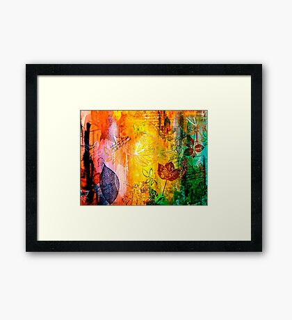 Nature...Layered with Texture Framed Print
