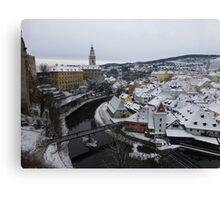 Cesky Krumlov Panoramic View, Czech Republic Canvas Print