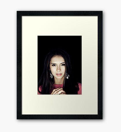 Nina Dobrev - Elena Gilbert - Poster Framed Print