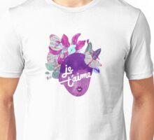 Je T'aime Botanical Print Unisex T-Shirt