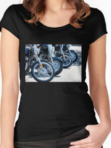 HD Wheels Women's Fitted Scoop T-Shirt