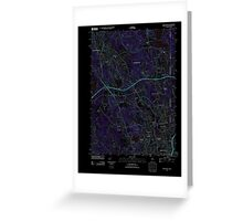 USGS TOPO Map Rhode Island RI Pawtucket 20120604 TM Inverted Greeting Card