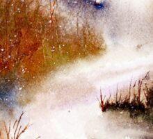 Landscape..Winter Walk Sticker