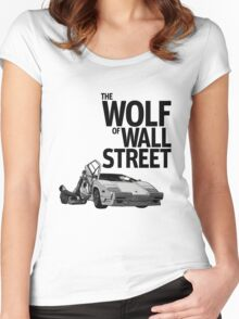 THE WOLF OF WALL STREET-LAMBORGHINI COUNTACH Women's Fitted Scoop T-Shirt