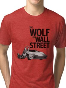 THE WOLF OF WALL STREET-LAMBORGHINI COUNTACH Tri-blend T-Shirt