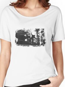 Sk8 B&W Women's Relaxed Fit T-Shirt