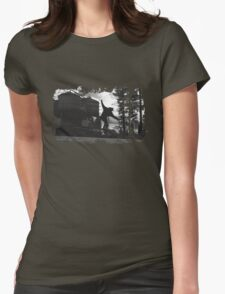 Sk8 B&W Womens Fitted T-Shirt