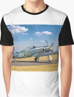 Hawker Sea Fury T.20S VX281 G-RNHF Graphic T-Shirt