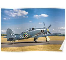Hawker Sea Fury T.20S VX281 G-RNHF Poster