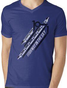Monorail Red T-Shirt  Mens V-Neck T-Shirt