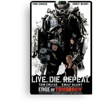Edge of Tomorrow poster Canvas Print