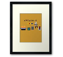 AWESOM-O 4000 Framed Print